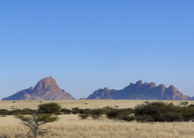 La formazione montuosa dello Spitzkoppe e Pontok