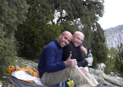 Viny e Glauco dopo la via Luna Bong